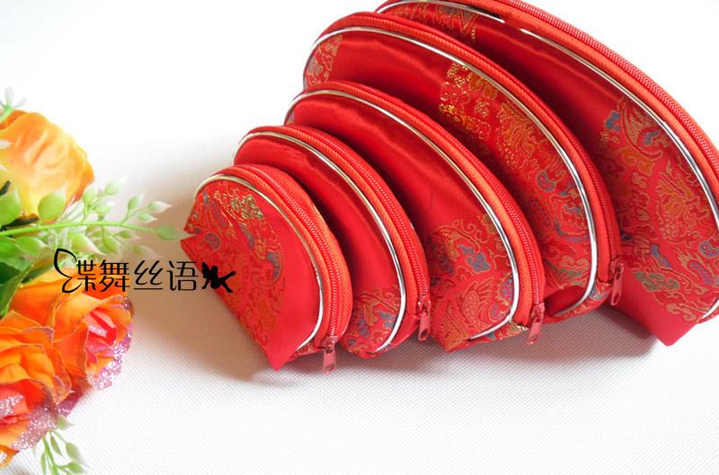 Đặc biệt cung cấp 5 thổ cẩm thổ cẩm túi thủ công túi ví năm mảnh lụa lưu trữ túi satin ly hợp