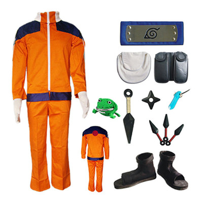taobao agent Naruto cos Naruto full set of cosplay costume Halloween cos children's cos clothing accessories