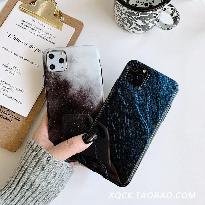 冷淡风纹理11Pro\/Max苹果X\/XS\/XR手机壳iPhone6s\/8plus\/7女6p个性