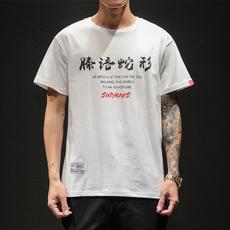 短袖t恤男夏季宽松印花体恤衫男日系学生半截袖 A313-1 T1946 P35
