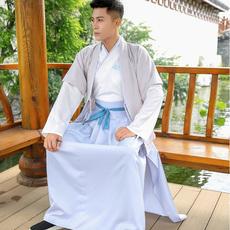6006实拍汉服古装明制改良日常汉服cp情侣传统绣花对襟半臂单上衣