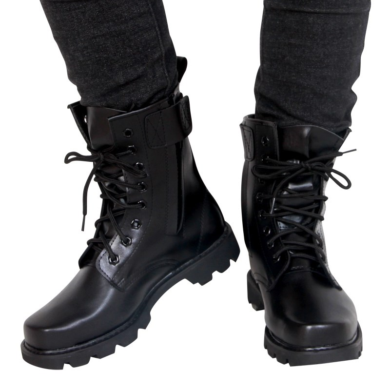 秋冬季马丁靴男高帮男靴加绒保暖工装靴