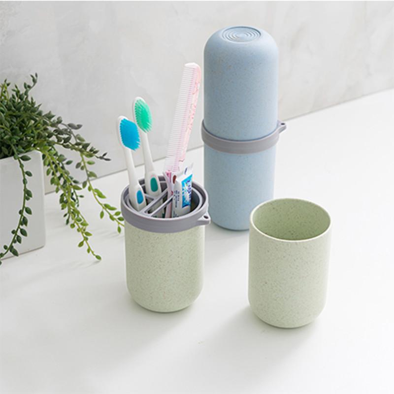 Du lịch rửa chén làm sạch chăm sóc bàn chải đánh răng kem đánh răng thiết lập du lịch du lịch di động cung cấp hộp lưu trữ miệng cốc túi