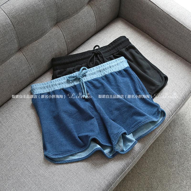 Bên ngoài DAN 119 đồng đô la Hồng Kông nhà máy lớn sản xuất nữ eo đàn hồi tie hoang dã quần short mỏng 0.16H204635