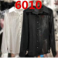 2018新款韩版女装OL白领重工烫钻雪纺衫气质薄款打底衬衫百搭6010
