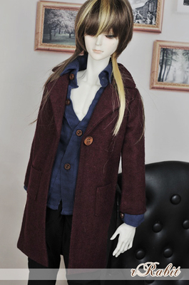 taobao agent 3 points men's SD baby clothes BJD winter flannel wool long suit jacket SH003