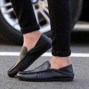 男士休闲鞋一脚蹬豆豆鞋