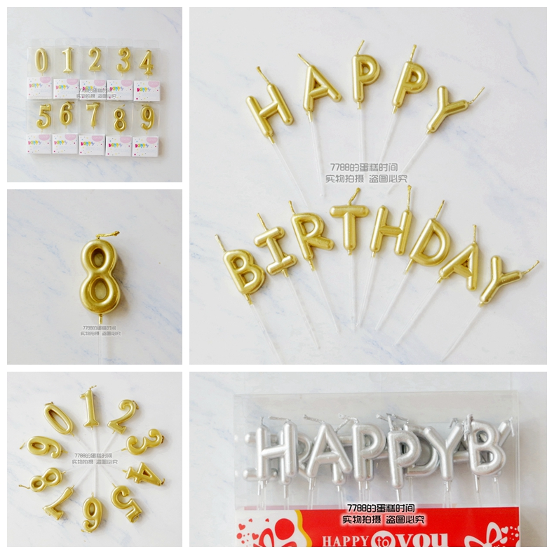 Gold Letter Candle Happy Birthday Golden Number Tuhao J3sMart Bruneis No1 Online Shopping Store