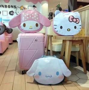 [1 gói] Melody lớn tai chó túi du lịch vai túi túi duffel hành lý túi có thể được thiết lập trường hợp xe đẩy