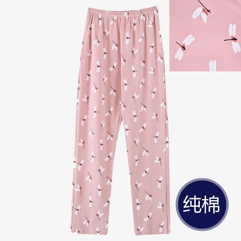 Pajama quần của phụ nữ mùa thu hai mặt quần cotton cộng với phân bón XL eo cao có thể được đeo bên ngoài của mẹ nhà giản dị quần mùa thu và mùa đông