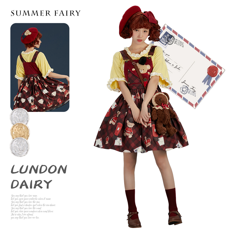 Summer fairy London diary strap dress, Lolita original dress