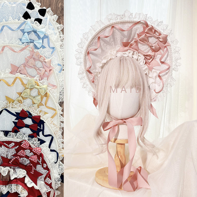 taobao agent 【MAID】Original design ten female hair band hand-made Lolita Bonnet color matching bnt can be customized