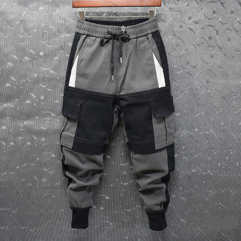Quần tây nam và quần bó kiểu Hồng Kông phối màu cá tính phù hợp với xu hướng quần âu - Crop Jeans