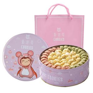遁地蜀曲奇饼干铁盒手工高颜值网红休闲食品无添加孕妇零食礼盒装