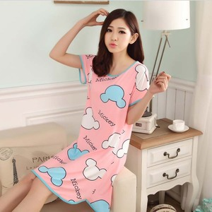 2018 mùa hè mới đồ ngủ nightdress nữ Hàn Quốc phiên bản có thể được đeo bên ngoài nhà dịch vụ ăn mặc bông sinh viên nữ tòa án gió