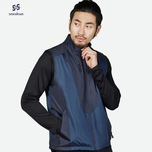 Seoraksan thể thao ngoài trời vest cá nam giới và phụ nữ thở vest leo lỏng kích thước lớn nhanh khô đôi áo khoác