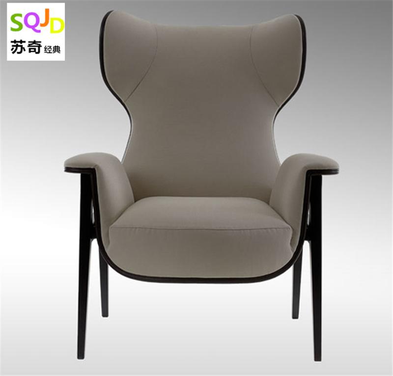 Thiết kế đồ nội thất ánh sáng sang trọng tùy chỉnh FRP phòng chờ ghế Fendi ghế Bắc Âu đơn giản mẫu thời trang phòng lounge chair