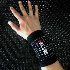 Độ ẩm wicking thể thao dây đeo cổ tay chạy đi xe đạp xuyên quốc gia hàng net chân giỏ cầu lông bóng bàn tập thể dục cổ tay bị bảo vệ