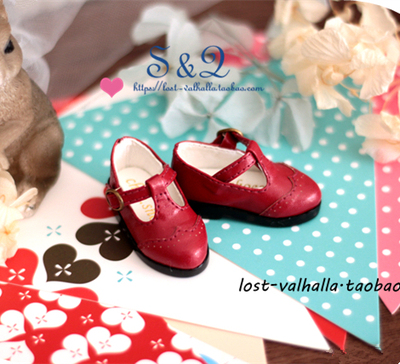 taobao agent T-shaped small leather shoes BJD 1/6 Six-point baby shoes IMDA3.0 1/4 Xiong Mei MSD MDD