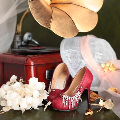 taobao agent Czech diamond sheepskin small high-heeled BJD GR SD16 female DD AS Dragon Soul limited edition high-heeled shoes