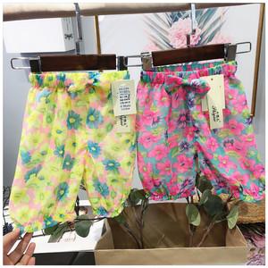 Sáng voan quần 2018 mùa hè mới bé nữ muỗi quần mát mẻ mỏng quần trẻ sơ sinh lỏng lẻo 7 quần