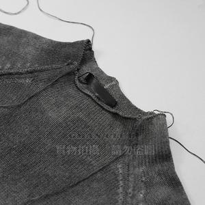 Không sương mù tự trị tối cao đường phố TheViridianne TVA tiên phong graphite nitrite rửa áo len ngắn tay áo