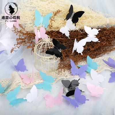 taobao agent Mori girl Lolita ancient style Hanfu cos white butterfly headdress decoration interior and exterior scenery props