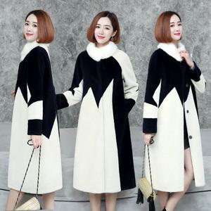2018 chống mùa mùa đông mới thời trang lông nhung tính khí mỏng dài cừu xén lông áo khoác Hàn Quốc nữ