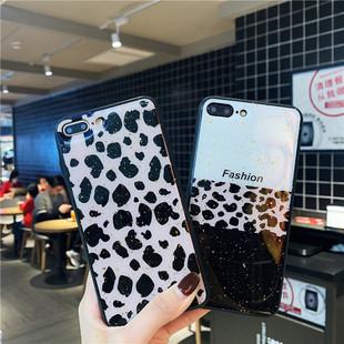 新款豹纹苹果手机壳潮牌X个性