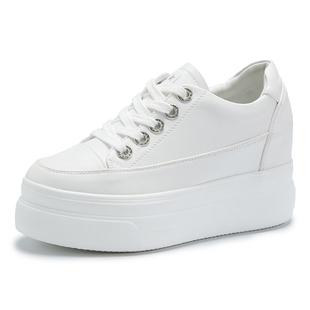 新款百搭韩版厚底小白鞋