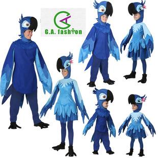 Хэллоуин животное в о большой приключение для взрослых ребенок младенец мужской и женщины попугай наряд играть отцовство этап производительность одежда