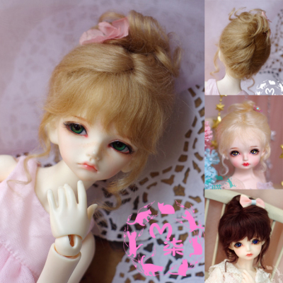 taobao agent BJD baby with mohair wig coil hair volume 12 points 8 points 6 points 4 points giant baby 3 points golden brown