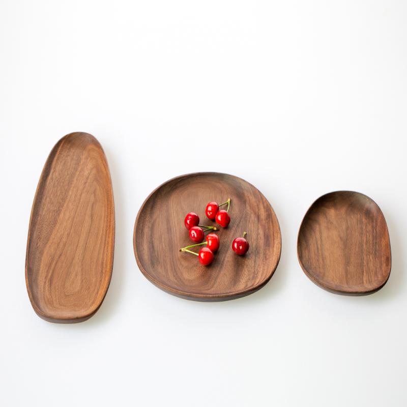 Cảnh quan giữa gỗ tự nhiên tấm tự nhiên gỗ rắn toàn bộ quả óc chó óc chó món ăn sáng tạo khay cốc đĩa trái cây snack món ăn