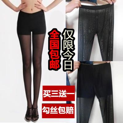Vớ mùa hè chống móc lụa pantyhose mỏng dài ống dưới lưới gạc vành đai an toàn quần vớ chống ánh sáng nữ