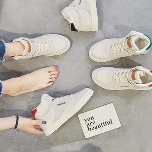 2018 mới mùa xuân và mùa thu Harajuku cao-top sneakers nữ Hàn Quốc phiên bản của ulzzang sinh viên board giày của phụ nữ hoang dã giày thường