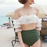 Áo tắm nữ Hàn Quốc chia nhỏ hương gió che bụng mỏng eo cao tam giác gợi cảm