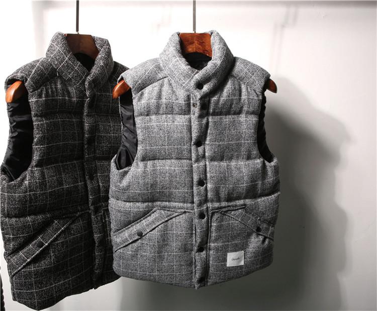 Vest coat jacket coat mùa thu và mùa đông ngày retro nam cotton vest vest dày ấm xu hướng đơn giản triều nam