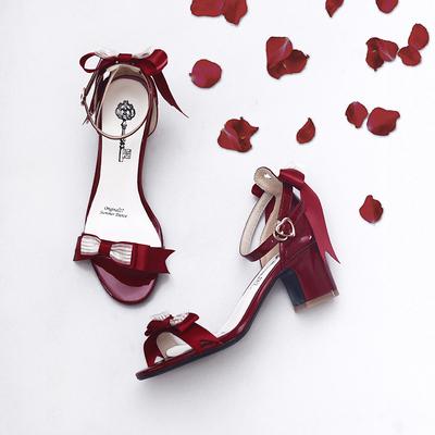 taobao agent 【Fairydream spot】National brand lolita 27 summer dance party high-heeled bow sandals