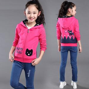 女童秋装外套 2017年新款拉链外套 休闲童单层外套