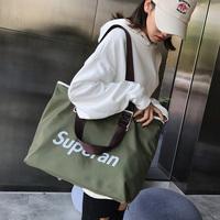 Túi xách nữ 2019 phiên bản Hàn Quốc mới của túi vải du lịch màu hoang dã sang trọng