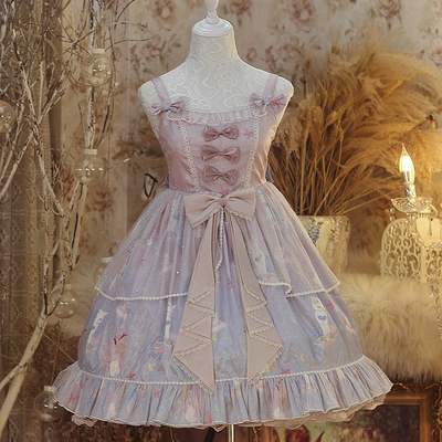 taobao agent Original positive cat mermaid Japanese soft girl Lolita Lolita dress girl jsk sling dress