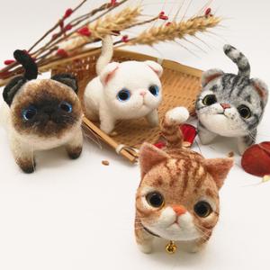 解压玩具 羊毛毡玩偶 戳戳乐 暹罗材料包 手工制作diy 小猫咪屁股