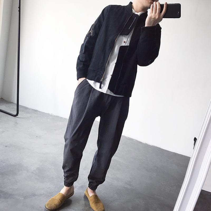 2018 gốc Nhật Bản retro trung tính nam giới và phụ nữ với cùng một đồng phục bóng chày bay MA-1 áo khoác dài tay áo khoác