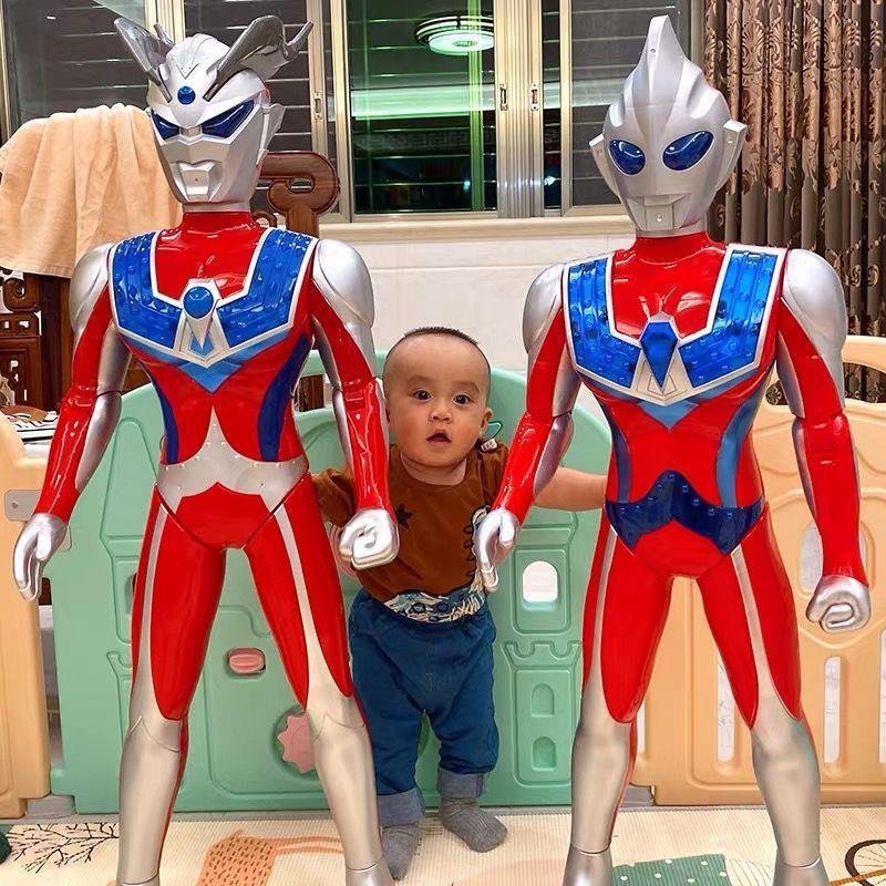 超大号奥特曼玩具银河超人泰罗赛罗迪迦可动