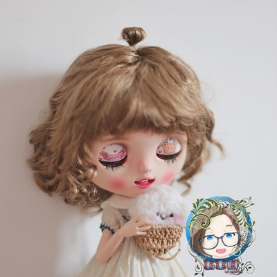 taobao agent 【Fleeting】BJD blythe ob11 wig multi-size unicorn multicolor imitation mohair