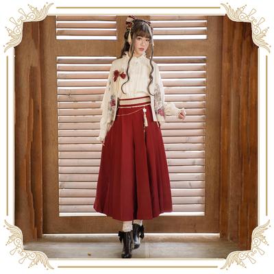 taobao agent 【Spot goods】+ChaCha+Love and death and wind+lolita original loose autumn high-waist wide-leg pants