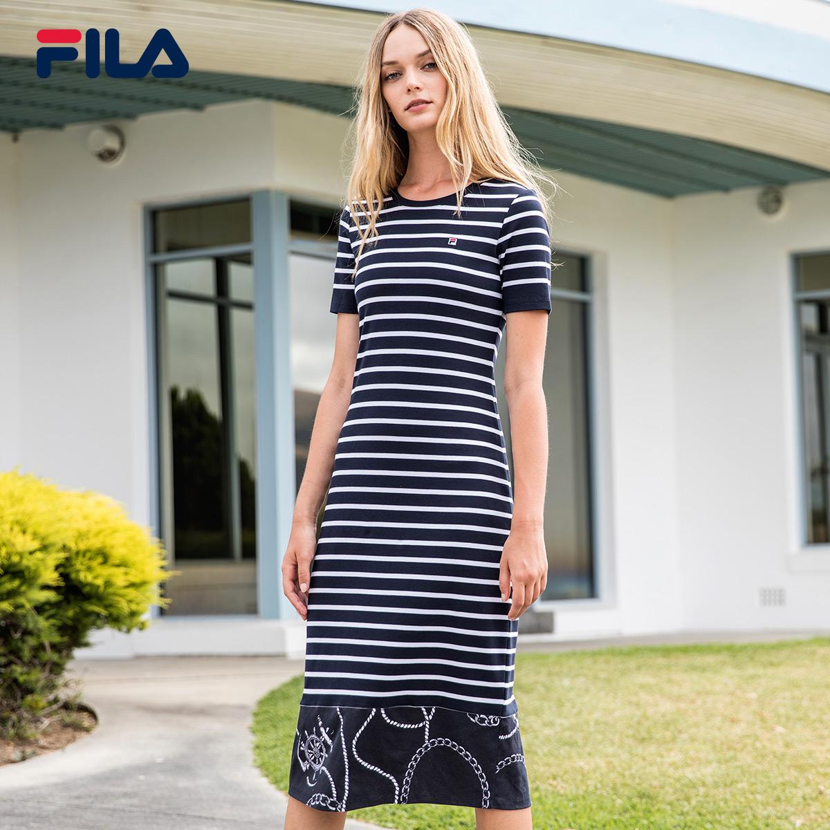 Fila váy Fila 2018 mùa hè mới Casual thoải mái thể thao ăn mặc | F11W828317F