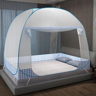 免安装蚊帐蒙古包家用1.5米双人床1.8