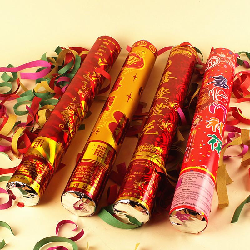 炮手持彩带礼宾花婚礼道具庆典玫瑰礼花筒