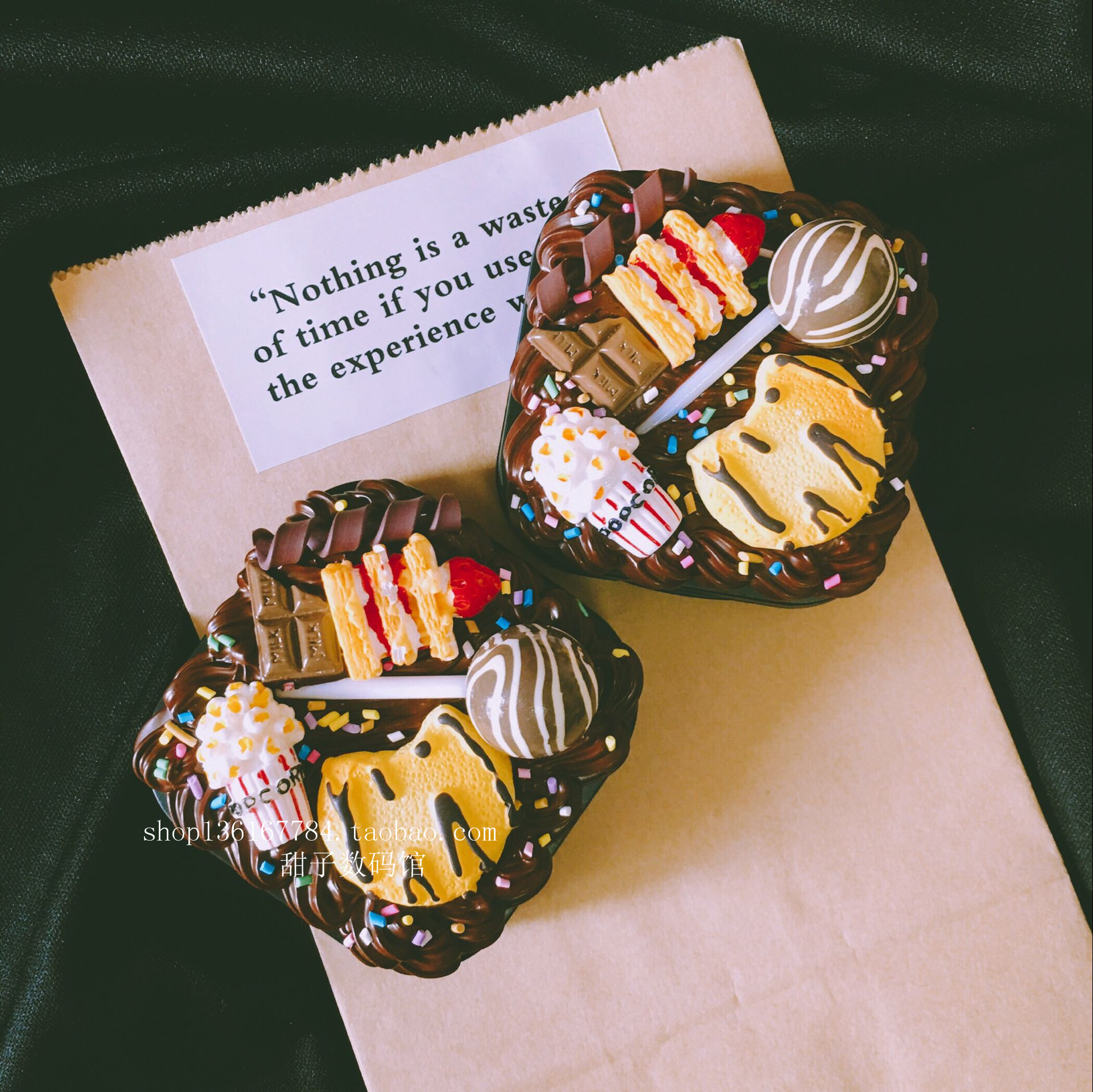 Cookie Lollipop Kem tráng miệng Hộp tiếp xúc Hộp màu Hộp liên hệ Handmade Hộp đôi Hộp đồng hành - Swiss Army Knife